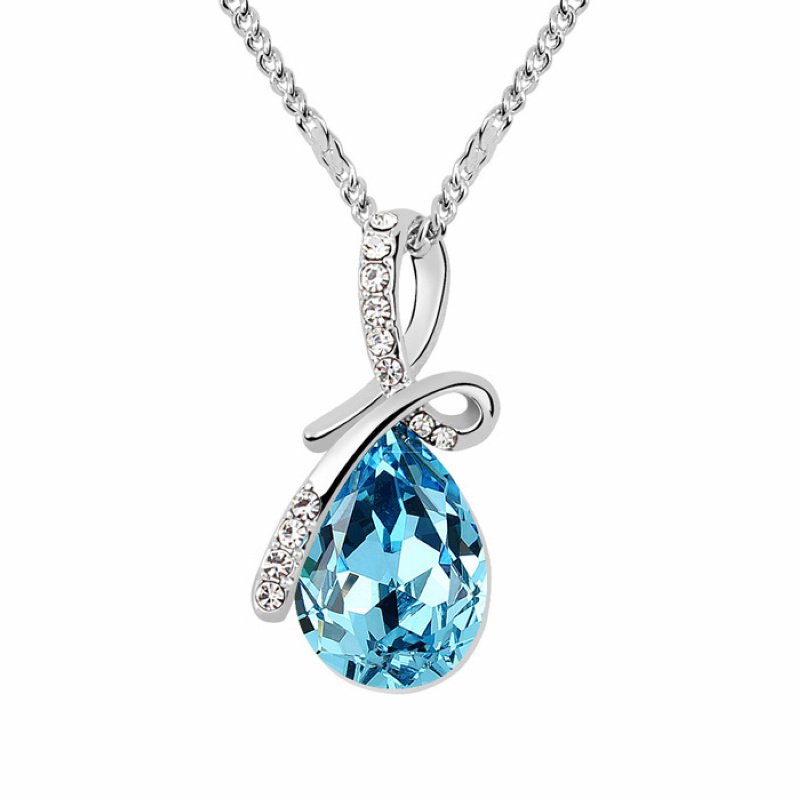 2015 Sale Trendy Beautiful Necklace Top Quality Austria Crystal Jewelry Free Shipping Made With Swarovski Elements #95064(China (Mainland))