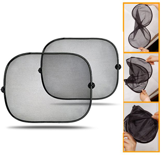 Essential 2Pcs Lot Black Side Car Sun Shade Rear Window Sunshade Cover Auto Accessories Mesh Visor
