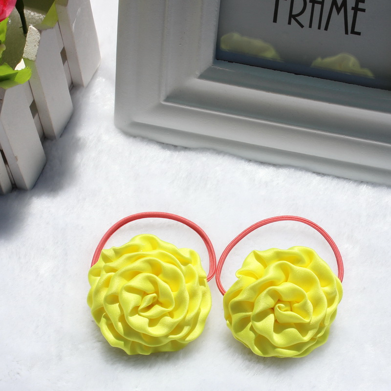 TS 4Pcs New style Chiffon Ribbon Flower Hairpins Kids Accessories gilrs hair accessories Children Accessories Baby Hair clip(China (Mainland))
