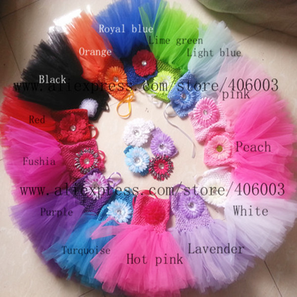 wholsale solid color baby girls halloween dresses princess Infant handmade tutus with daisy flower baby tutu dresses<br><br>Aliexpress