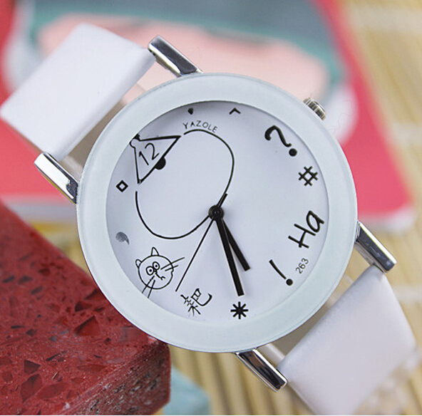 2017 Fashion casual watches women dress leather strap watch men sports quartz wristwatch montre femme relogio masculino Hot - Leader Home store