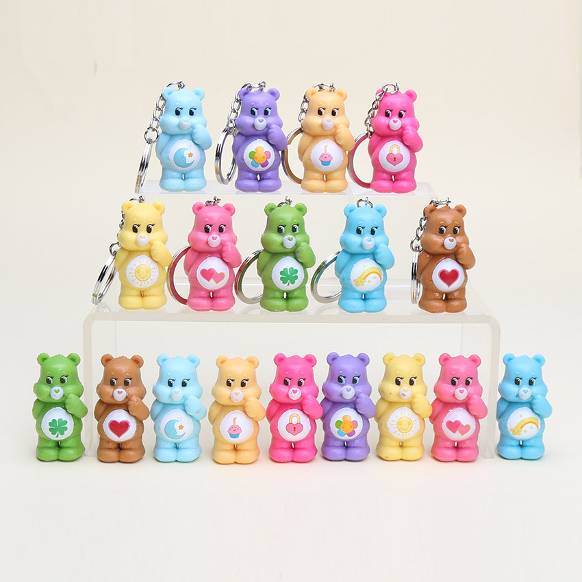 9Pcs/set 4.5cm Anime Care Bears Action Figure teddy bear toys Kids Toys(China (Mainland))