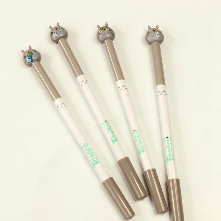 6 pcs/Lot Cut Kawaii Cartoon Totoro gel pen 0.5mm black ink pens new Stationery Office accessories school supplies papelaria<br><br>Aliexpress