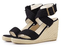 2015 new Europe and the United States hand-woven thick bottom with high waterproof Roman women sandals