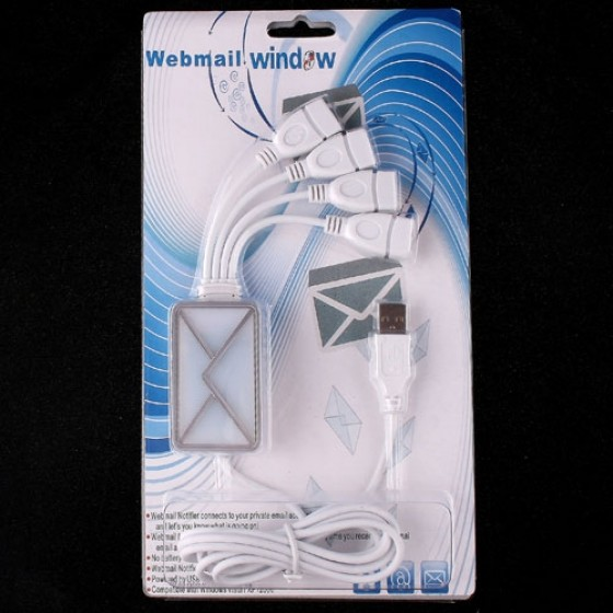 product 4 Port HUB USB2 0 WebMail Email Notifier for PC Laptop