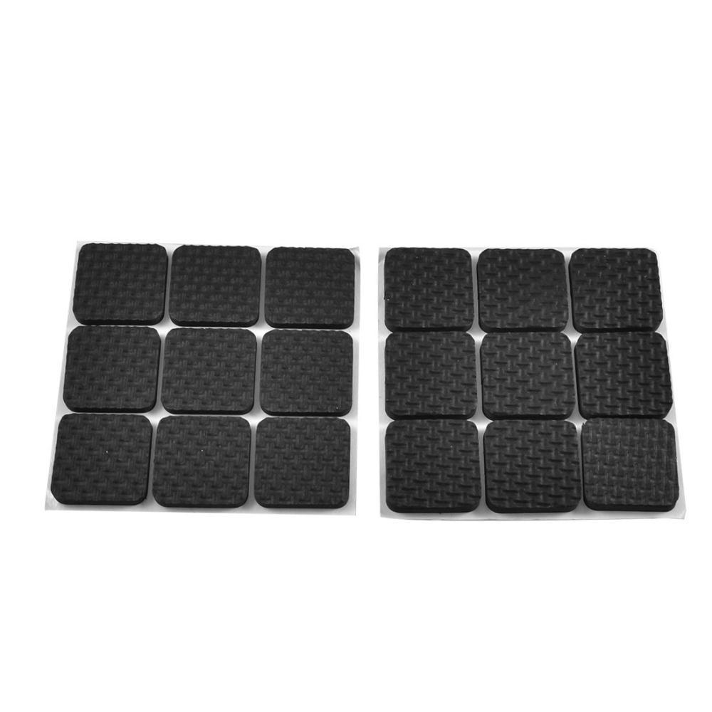 Good Deal ! 18 Pcs Square Shaped Black Adhesive Protection Pad for Chair Leg(China (Mainland))