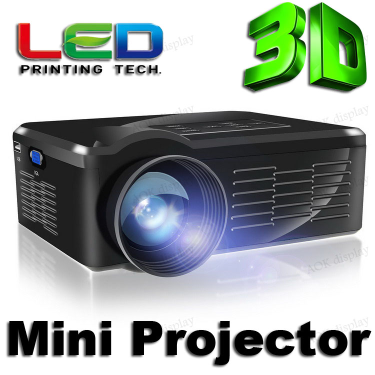 Buy 1200 lumens mini portable lcd 3d projector 1080p home for Best hd pocket projector