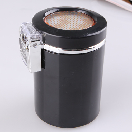 2016 New Arrival High Grade Stainless Steel Car Ashtray With Led Light(China (Mainland))