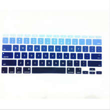 Gradual Blue Rainbow Silicone Laptop keyboard Skin Protector Cover film Guard for Apple Macbook Air 11″ 11.6 Inch for Mac Air 11