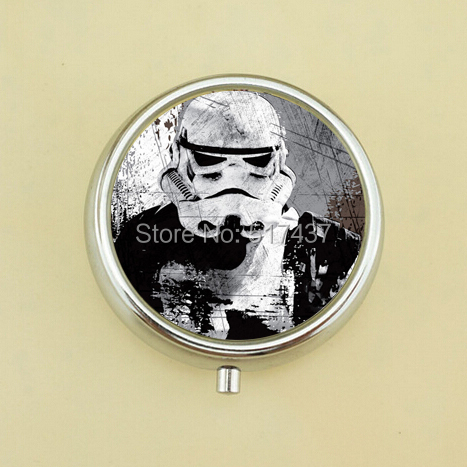 Free Shipping Star Wars Pill Case Trilogy Poster Picture Jewelry Pocket Pill Box Metal Pill Case(China (Mainland))