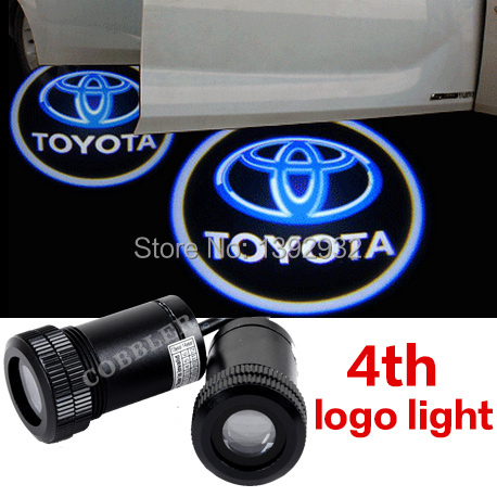 2pcs X 4th Gen Ghost Shadow Light Laser Projector Lights LED Car Logo Wireless courtesy Door light, Cree Led Ghost+free shiping(China (Mainland))