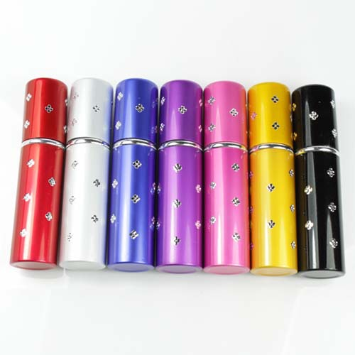 New Mini Refillable Crystal Perfume Atomizer Bottle Travel Spray Scent Pump Case(China (Mainland))