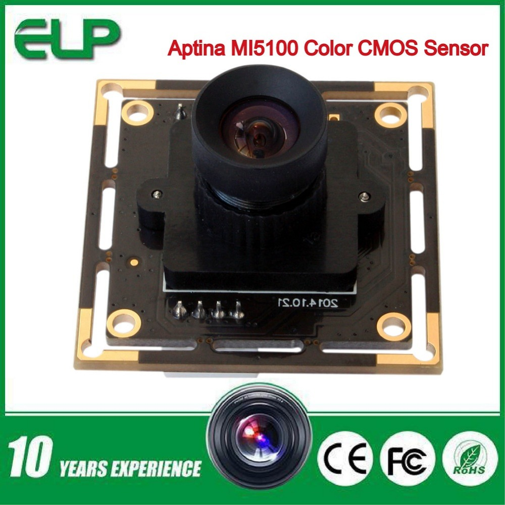 Фотография 5mp 2592 X 1944 High resolution Board Camera Aptina MI5100 HD MJPEG 30fps at 1080P 2.8mm lens CCTV Security mini Camera module