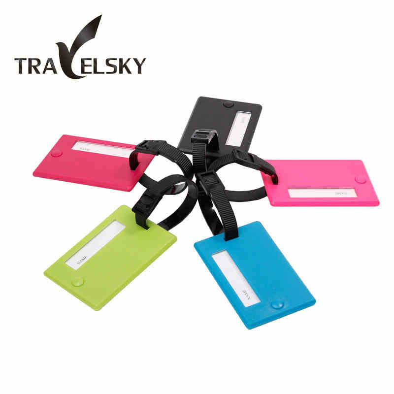Luggage tag PVC material multicolor and mix fashion travel bags tags pull rod box sign 5color choice free shipping 1pcs 13101(China (Mainland))