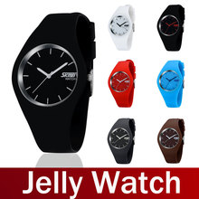2014 Newest Fashion Brand Women Colorful Jelly Watch Men Casual Silicone Band Quartz Watch Wristwatch 30M Waterproof Sport watch