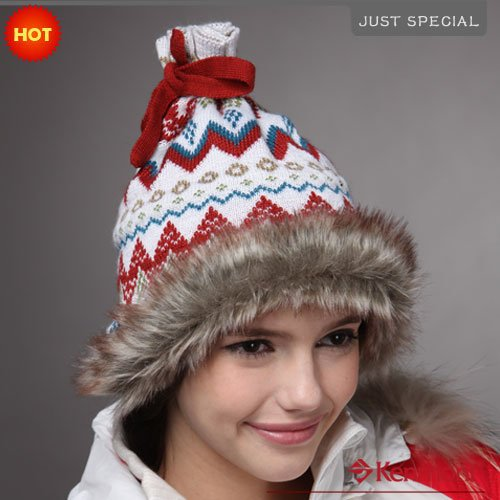 Holiday Sale Women 's Hats Brand Kenmont Plush Beanies Hat Knitted Wool Winter Cap White Caps BE-1143-02 - Price Store store