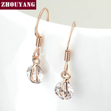 Top Quality Water Drop Crystal 18K Rose Gold Plated Earrings Jewelry   Austrian Crystal Wholesale ZYE317 ZYE316(China (Mainland))
