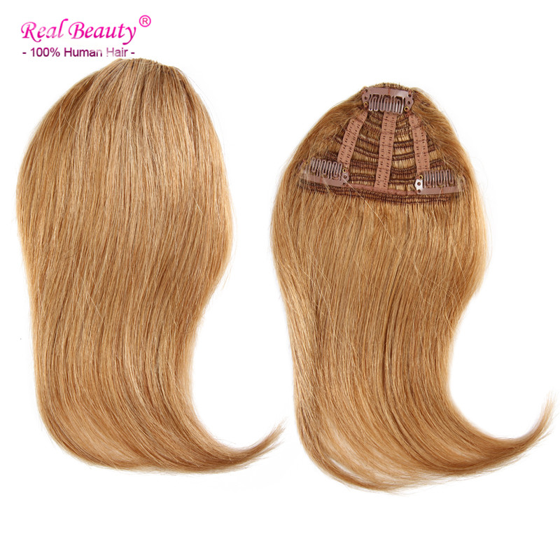 Clip In Human Hair Bangs/ Fringes Human Straight Hair 25g Clips In/On Side Edge Long Bangs Hair Soft Fringe Ai Beauty