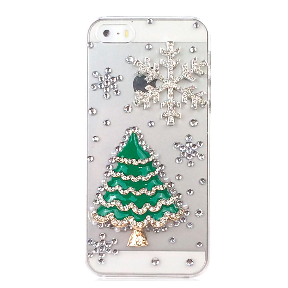 3d christmas tree tower snow phone cases for iphone 5 for for 3d decoration for phone cases