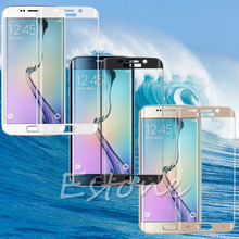 2015 новые полное покрытие покрытие для SAMSUNG GALAXY S6 край закаленное стекло защитная бесплатная доставка
