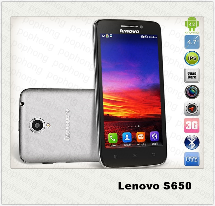 Мобильный телефон J lenovo s650 3G 4.7/qhd 960 * 540 MTK6582m 1.3 1G 8G Android 4.2 телефон леново 960 в сургуте