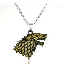 RJ Venda Quente Movie Game of Thrones Lobo cabeça Chaveiro Emblema Chaveiro Pingente Para As Mulheres E Homens Fãs de futebol Presente chaveiro(China)