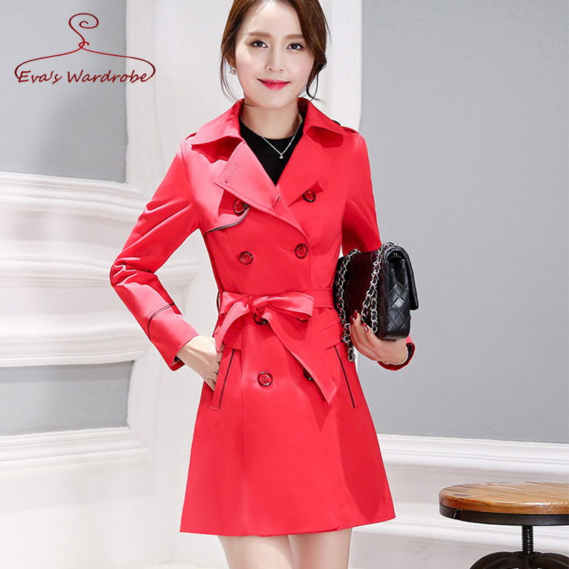 Double Breasted Women's Trench Coat Plus Size 3XL 4XL Windbreaker Spring 2017 New Long Overcoat Female Casacos Trenchcoat