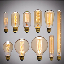 Incandescent Bulbs E27 E26 Antique Retro Vintage Dimmable Edison Light Bulb ST64 A19 T45 G95 40W 60W Filament Bulbs 120V/240V(China (Mainland))