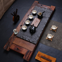 Tea set quality black stone tea tray set tea set combination