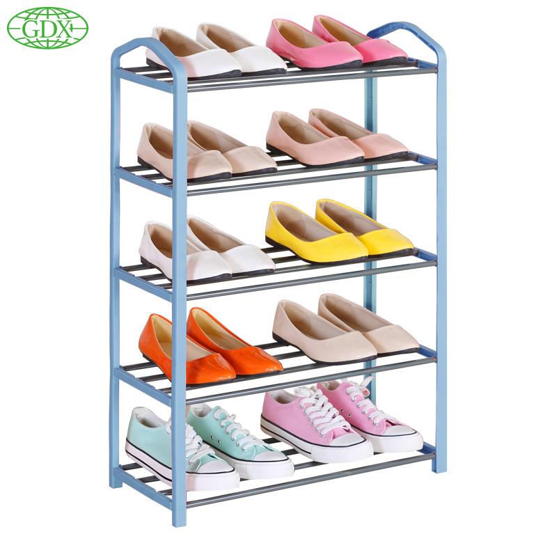 GDX 3pcs per lot Brand New Popular 5 Tiers 10 Pair Stackable Shoe Racks Storage Organizer Space Saving Shelf Closet Rack Shelves(China (Mainland))