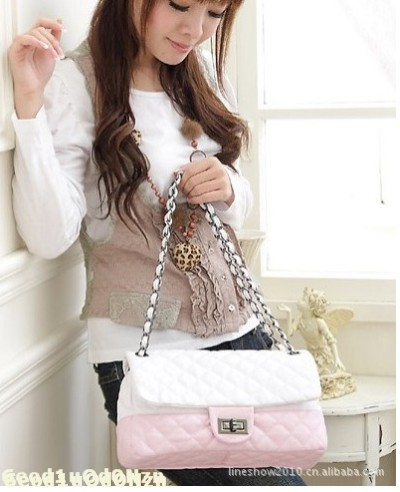 Free Sgipping Ladies Fashion Handbag Day Clutch Classic Shoulder Bag  Sweet Chain Grid bags