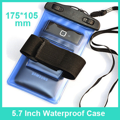 "5.7'' PVC Waterproof bag Underwater Pouch Case For iphone 6 4.7"" For Samsung galaxy note 4 3 2 S6 S5 S4 S3 phone Cover universal(China (Mainland))"