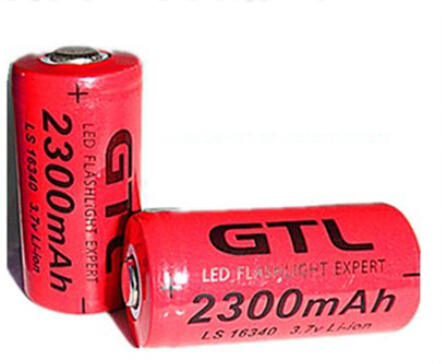 4pcs lot 3 7v 2300mAh 16340 cr123a rechargeable battery lithium ion battery for the red LED