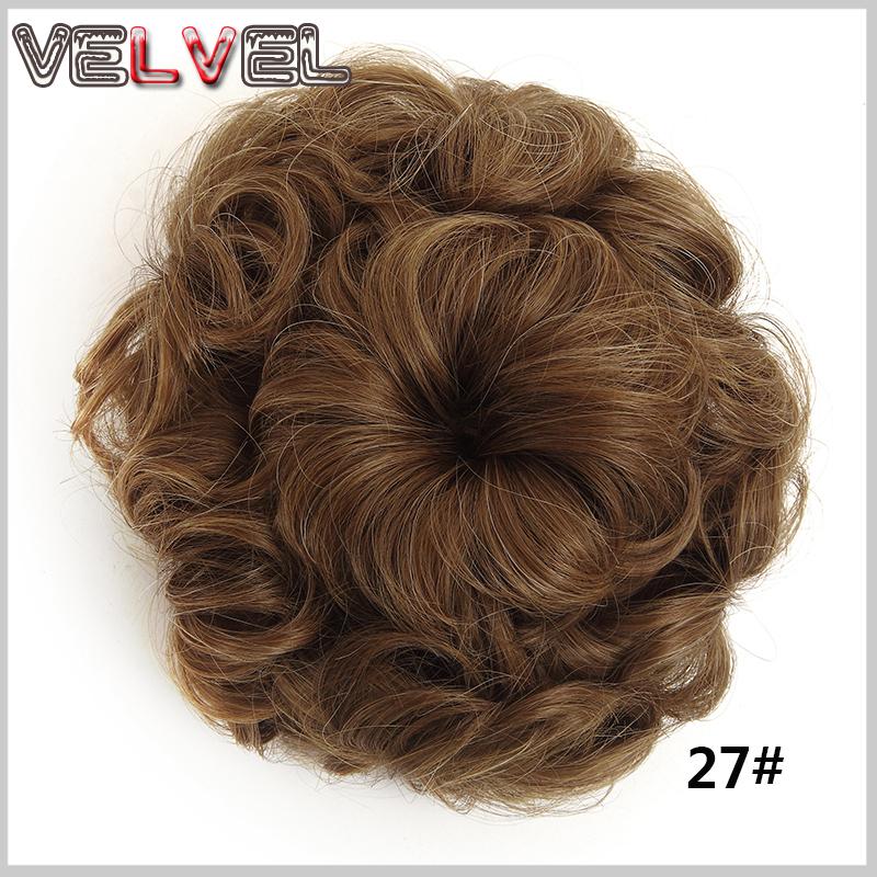 2016 Fashionable Synthetic Hair Roller Bun Chignon Hairpieces Fake Hair Bun Pieces Drawstring Buns VELVEL<br><br>Aliexpress