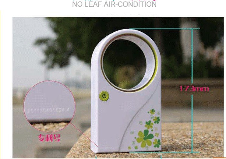 Factory price! 1 pcs/lot Free shipping 2012 New Arrived air conditioner,bladeless fan,USB or battery,mini fan(China (Mainland))