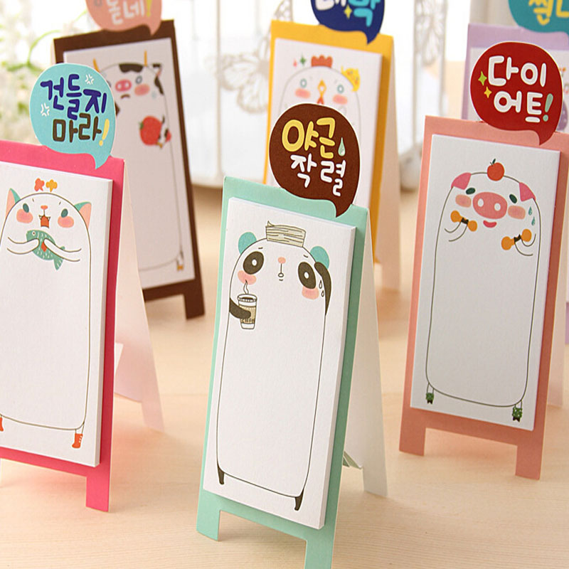 NEW Korea Stationery Pretty Kawaii Cartoon Sticker Post It Bookmarker Memo Pad Flags Sticky Note 7.16(China (Mainland))