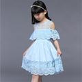 2016 New Arrivals Summer Kids Girls Slim Fit Sleeveless Lace Dress Princess Dress Children s Clothing