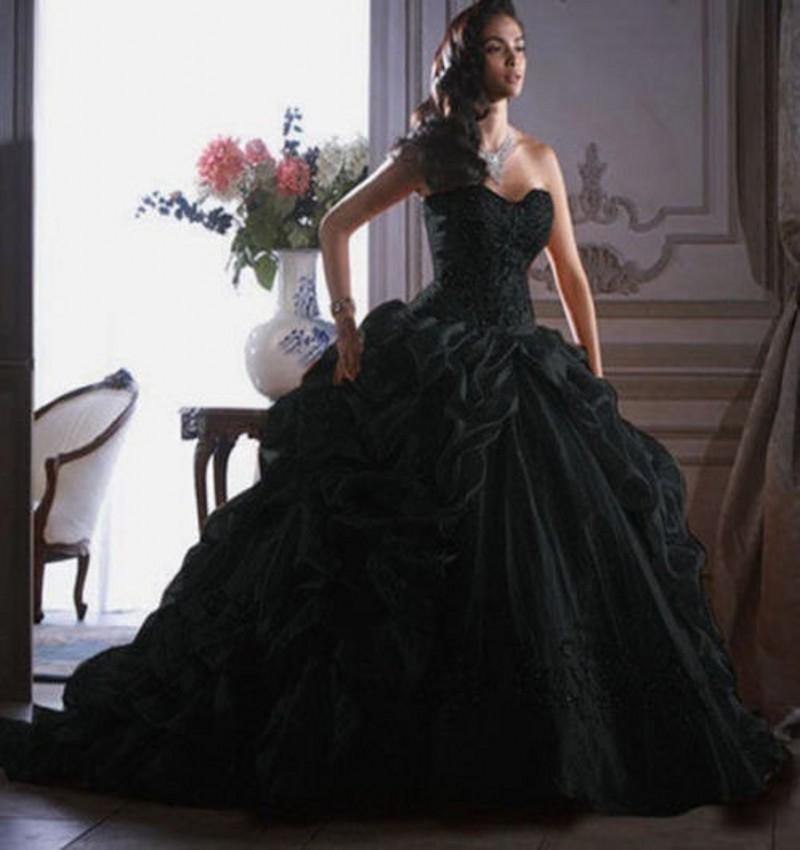 Aliexpress.com : Buy Vintage Black Ball Gown Quinceanera Dresses ...