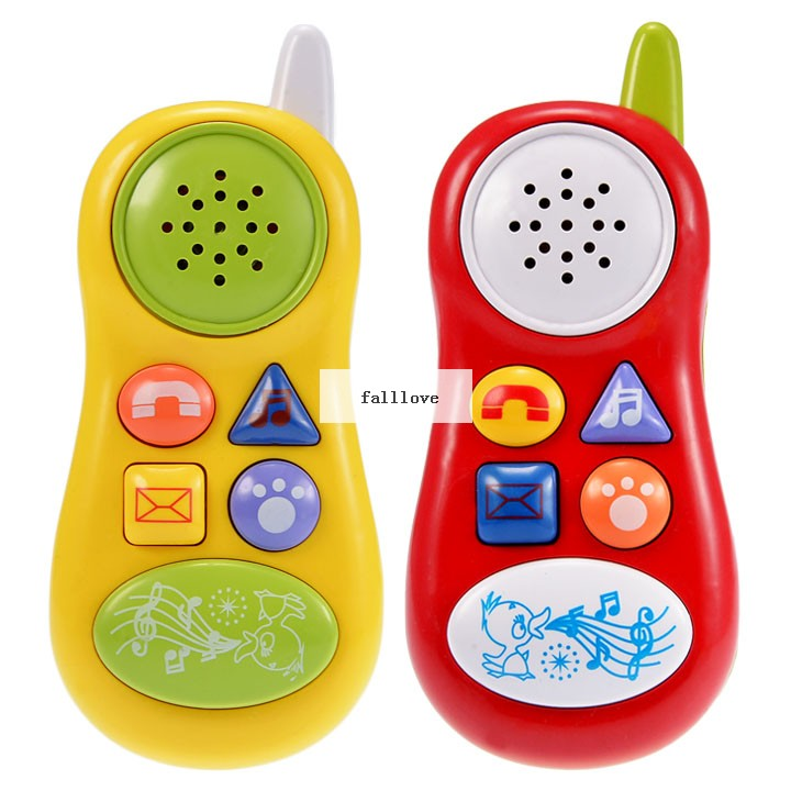 Kid Toy Phone Cellphone Mobile Phone Early Educational Learning Toys Machine Music Electronic Phone Model Infant BabyToys Gift(China (Mainland))