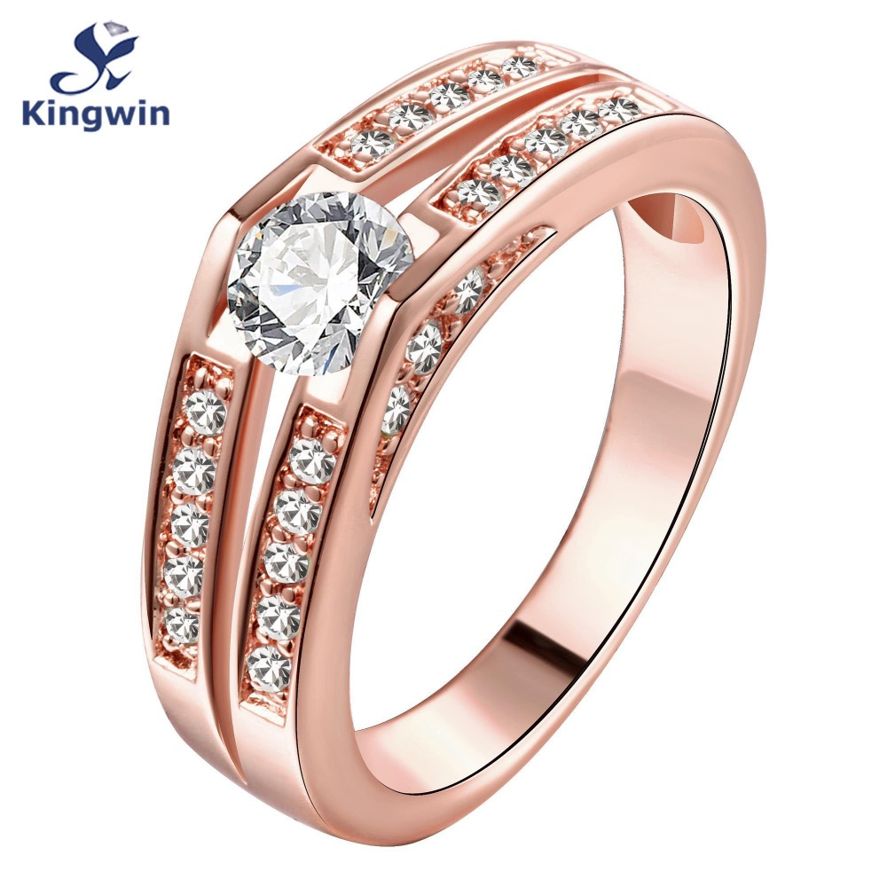 Aliexpress Buy 18k real rose gold plated fashion bridal jewelry wedding