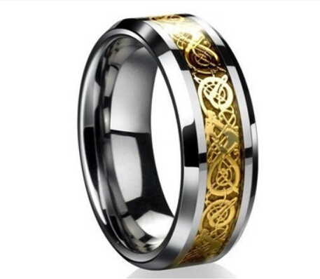 Carbon fiber 8 mm tungsten carbide ring size 7 to 15 graduate wedding wedding engagement(China (Mainland))