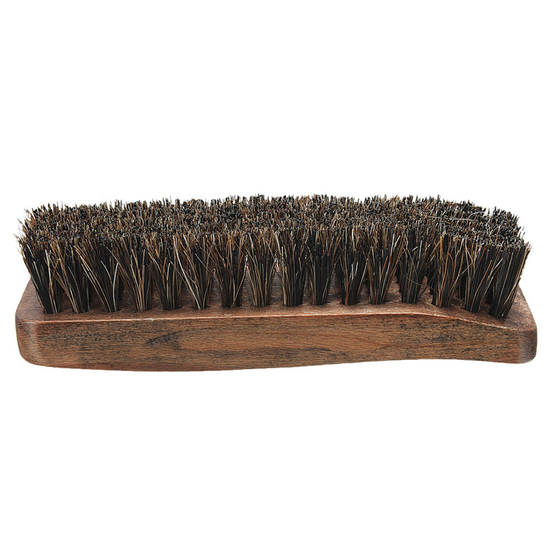 New Stylish Hot Sale Professional Wooden Handle Shoes Shine Brush Polish Bristle Horse Hair Buffing Brush(China (Mainland))
