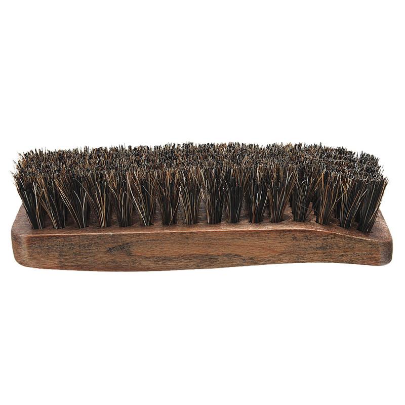 New Stylish Hot Sale Professional Wooden Handle Shoes Shine Brush Polish Bristle Horse Hair Buffing Brush(China (Mainland))