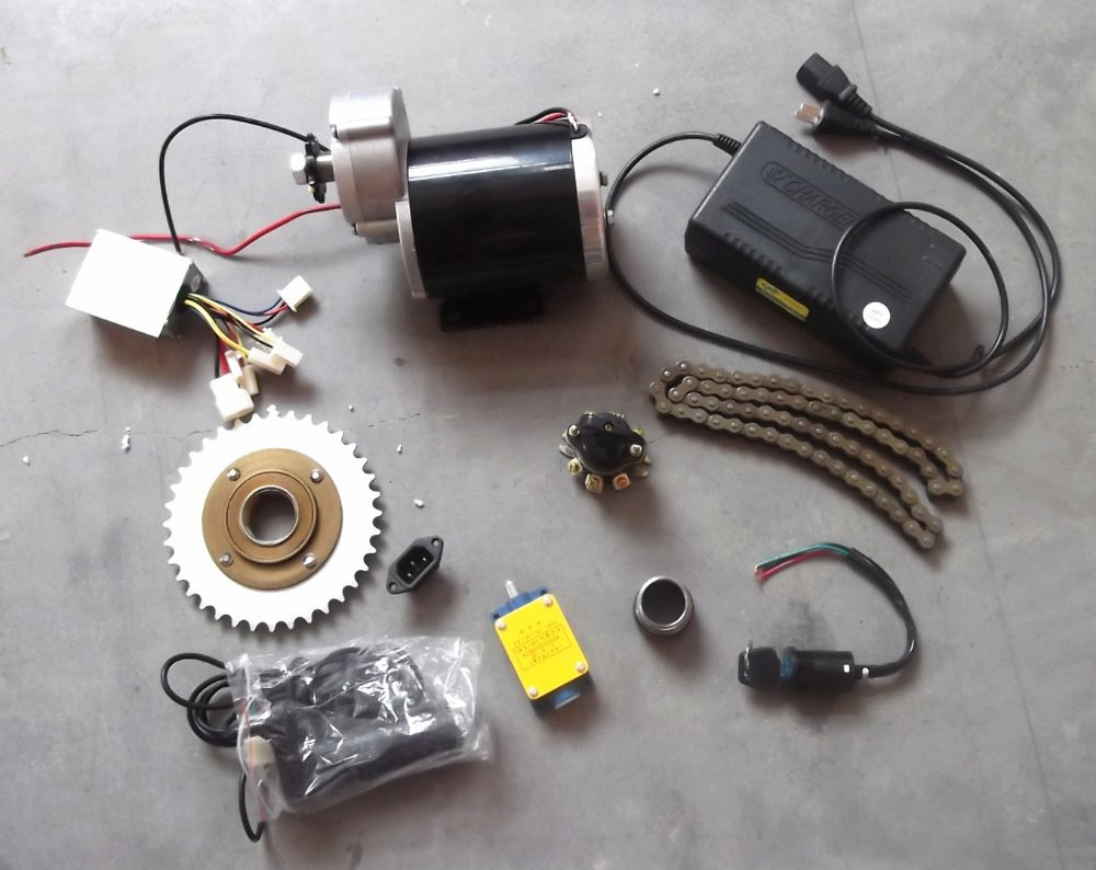 MY1020Z 36V / 48V 600W DIY Brush DC Motor Electric Trike, E-Tricycle, E- Trishaw Kit - Kai Yuan CO., Limited store