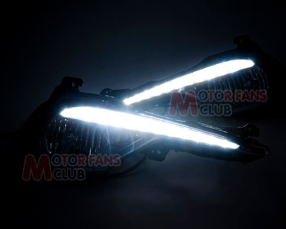 LED Daytime Running Light For Hyundai YF Sonata I45 Fog Assembly DRL 2013 2014