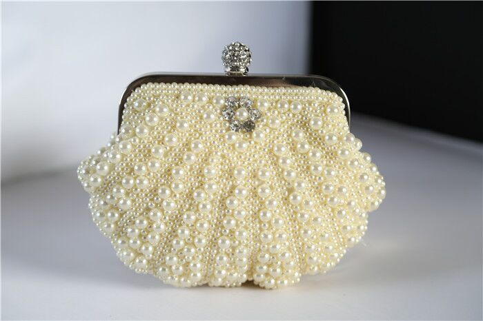 Top Quality Fashion Design New Mini Size Shell Beads Lady Clutch Bag With Chain Women Fashion Evening Bag Retail and Wholesale(China (Mainland))