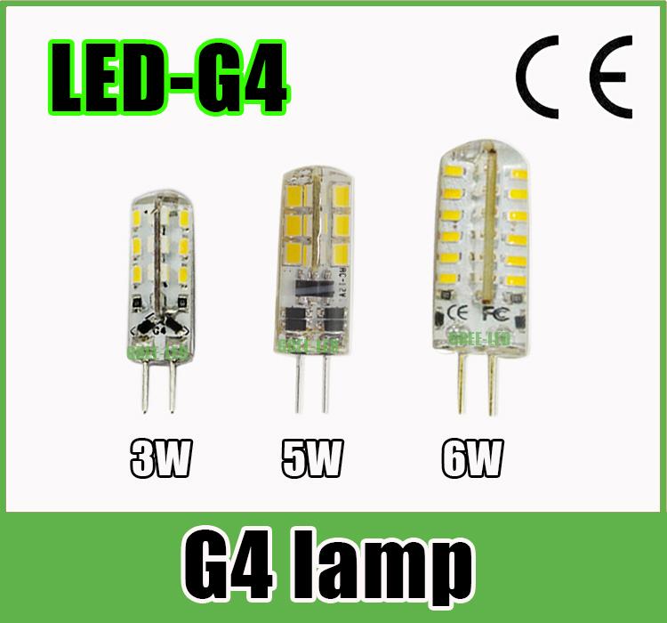 20pcs/lot led G4 3014 2835 SMD 3W 5W 6W DC 12V G4 LED Lamp 20W halogen lamp g4 led 12V LED 360 Beam Angle Lamp Light Spotlight(China (Mainland))