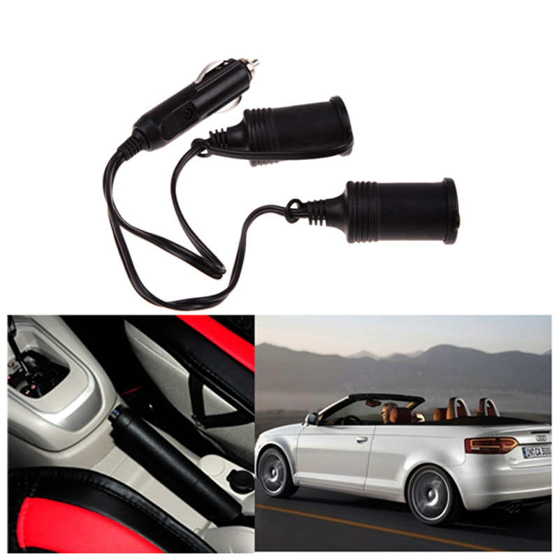 12V Waterproof Car Cigarette Lighter with Extension Cable Dual Way Car Motorcycle Cigarette Lighter Plug SWE#(China (Mainland))