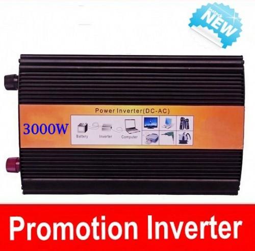 Digital Display 6000W peak 3000W Power Inverter Pure Sine Wave DC 12V to AC 220V Solar/Wind/Car/Gas Power Generation Converter(China (Mainland))