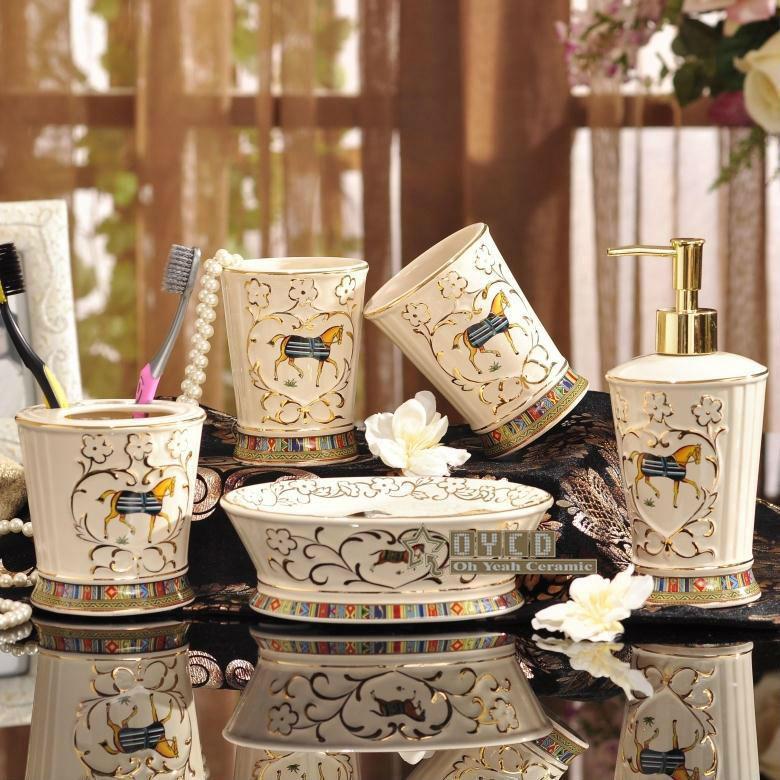 Online Cheap Porcelain Bathroom Sets Ivory Porcelain God Horse ...